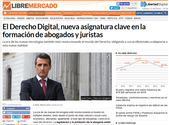 Entrevista Libertad Digital Julián Plaza