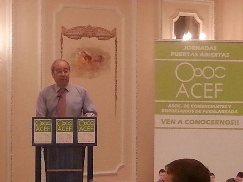 El alcalde de Fuenlabrada durante su intervención
