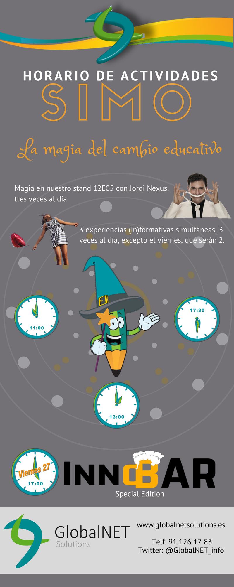 Horario de actividades en SIMO 2017