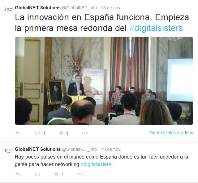 Tuit primera mesa redonda de #digitalsisters