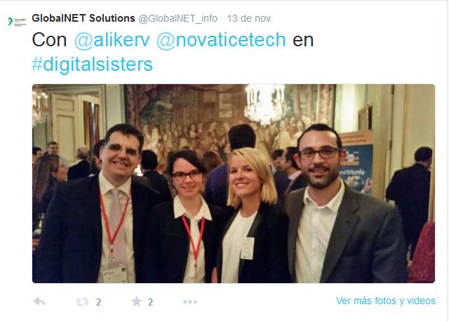 Tuit con José Ramiro Martínez, nuestros anfitriones de Ubifrance y Anaïde de Novatice en #digitalsisters