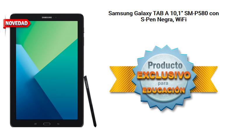 """Samsung Galaxy TAB A 10,1"""" SM-P580 con S-Pen Negra, WiFi"""