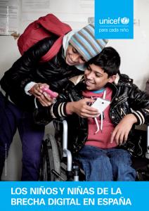 UNICEF - Los niños y niñas de la brecha digital en España
