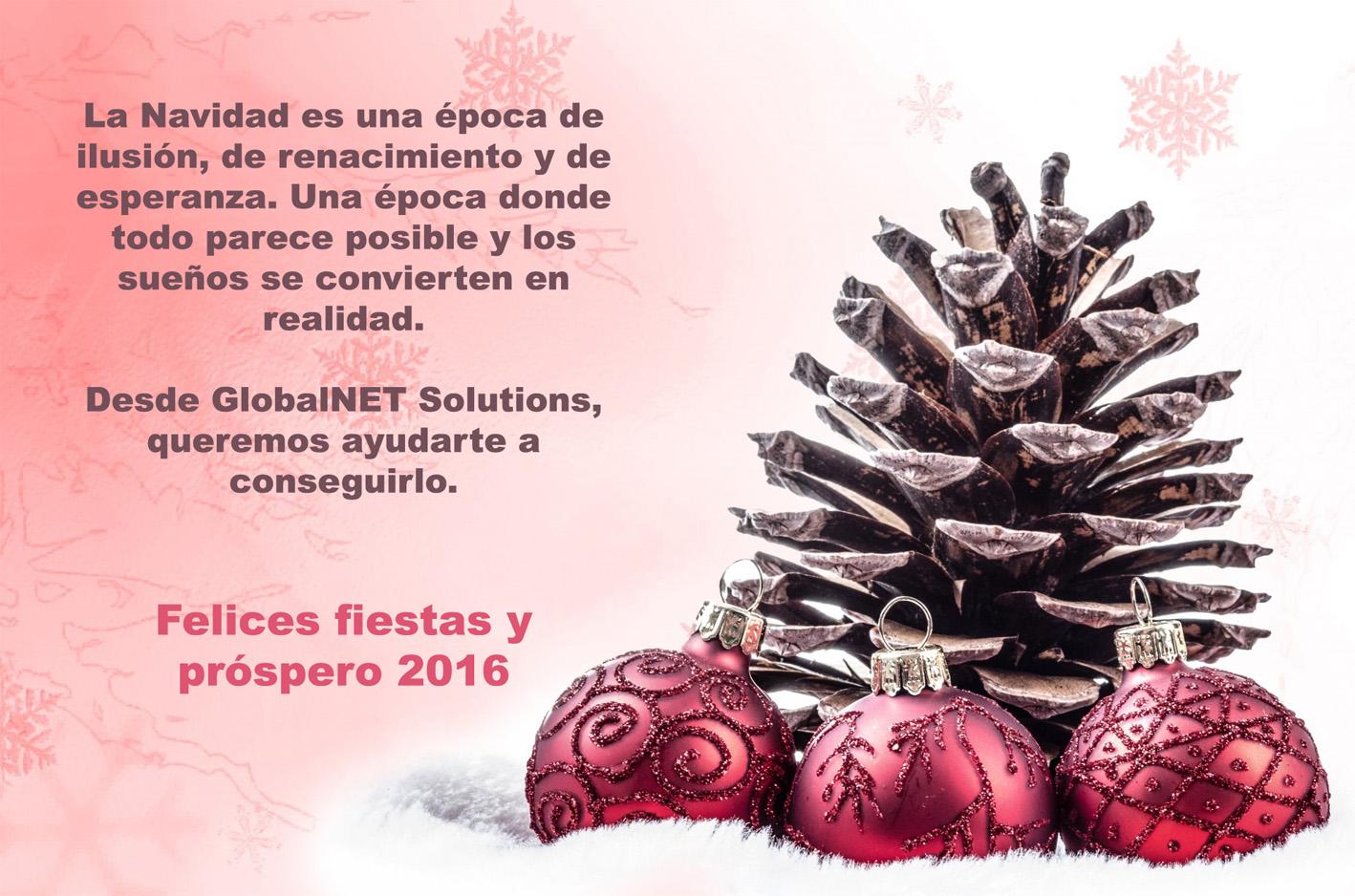 Felicitación de Navidad de GlobalNET  Solutions