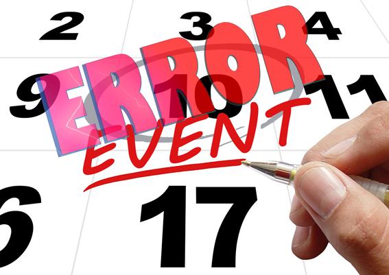 falta de tiempo para preparar un evento